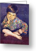 Realism Greeting Cards - Denis 01 Greeting Card by Yuriy  Shevchuk