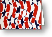 Spangled Greeting Cards - Dennis Conner II Greeting Card by Oliver Johnston