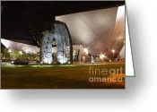Architect Photo Greeting Cards - Denver Art Museum Greeting Card by David Bearden