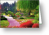 Willows Digital Art Greeting Cards - Denver Botanical Gardens 1 Greeting Card by Steve Ohlsen