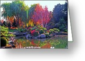Willows Digital Art Greeting Cards - Denver Botanical Gardens 3 Greeting Card by Steve Ohlsen