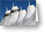 Elements Greeting Cards - Denver International Airport DIA Colorado Greeting Card by Brendan Reals
