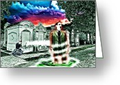 Charles River Digital Art Greeting Cards - Departing Spirit From The Ruins Of A  New Orleans Cemetery Greeting Card by James Griffin