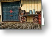 Huckleberry Greeting Cards - Depot Wagon Greeting Card by Kenny Francis