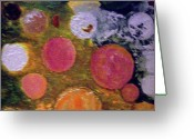 Color Reliefs Greeting Cards - Depth Greeting Card by Roy Penny