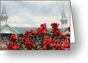 Spires Greeting Cards - Derby Day Greeting Card by Thomas Allen Pauly