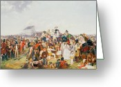 Horserace Greeting Cards - Derby Day Greeting Card by William Powell Frith