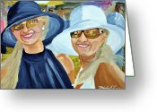 Churchill Downs Greeting Cards - Derby Girls Greeting Card by Michael Lee