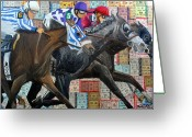 Churchill Downs Greeting Cards - Derby Tickets III Greeting Card by Michael Lee