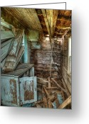 Falling Down Greeting Cards - Derelict House Greeting Card by Thomas Zimmerman