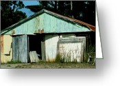 Abandon Digital Art Greeting Cards - Derilict Building Greeting Card by Phill Petrovic