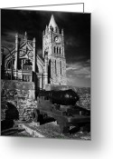 Canons Greeting Cards - Derrys Walls And Guildhall With Cannon Greeting Card by Joe Fox