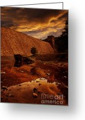 National Pyrography Greeting Cards - Derwent Overflow Greeting Card by Nigel Hatton
