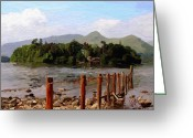 Surroundings Greeting Cards - Derwent water Greeting Card by James Shepherd
