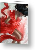 Dancer Art Greeting Cards - Descension Greeting Card by Steve Goad