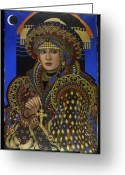 Face Shadow Greeting Cards - Desdemona Greeting Card by Jane Whiting Chrzanoska
