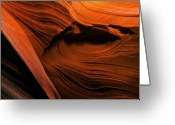 Striations Greeting Cards - Desert Carvings Greeting Card by Mike  Dawson