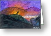 Protest Pastels Greeting Cards - Desert Dance Greeting Card by Deborah Duffy