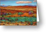 Oranges Greeting Cards - Desert Day Greeting Card by Johnathan Harris