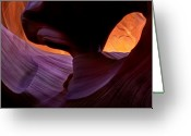 Striations Greeting Cards - Desert Eye Greeting Card by Mike  Dawson