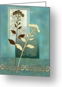 Wild Grass Greeting Cards - Desert Grass Greeting Card by Gina Femrite