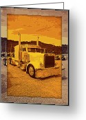 Truck Shows Greeting Cards - Desert Hauler Greeting Card by Randy Harris