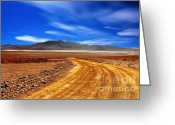 Arid Country Greeting Cards - Desert In Bolivia Greeting Card by Gualtiero Boffi