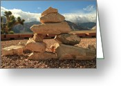 Inuksuk Greeting Cards - Desert Inuksuk Greeting Card by Donna Quante