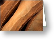 Striations Greeting Cards - Desert Lines Greeting Card by Mike  Dawson