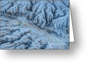 Gully Greeting Cards - Desert Moonlight Erosion II Greeting Card by Gary Whitton