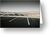 Horizontal Lines Greeting Cards - Desert Parking Spaces Greeting Card by Dave & Les Jacobs