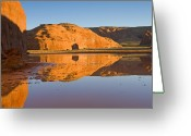 Monument Valley Photo Greeting Cards - Desert Pools Greeting Card by Mike  Dawson