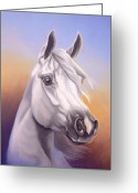 "\\\""texas Artist\\\\\\\"" Greeting Cards - Desert Prince Greeting Card by Howard Dubois"