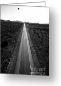 Az Greeting Cards - Desert Road Greeting Card by Scott Pellegrin