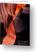 Striations Greeting Cards - Desert Split Greeting Card by Mike  Dawson