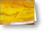 Gold Mountain Mixed Media Greeting Cards - Desert Sunrise - close up Greeting Card by Paul Tokarski