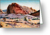  Parks Drawings Greeting Cards - Desert Uprising Greeting Card by Sherry Egger