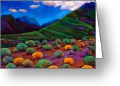 Vibrant Colors Greeting Cards - Desert Valley Greeting Card by Johnathan Harris