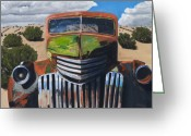Pickup Painting Greeting Cards - Desert Varnish Greeting Card by Jack Atkins