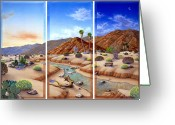Desert Southwest Greeting Cards - Desert Vista Greeting Card by Snake Jagger