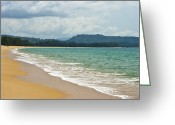 Georgia Fowler Greeting Cards - Deserted Beach Greeting Card by Georgia Fowler