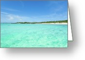 Tropical Climate Greeting Cards - Deserted Tropical Island Greeting Card by Ippei Naoi