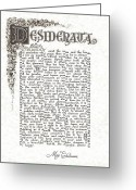 Inspirational Drawings Greeting Cards - Desiderata 6 Greeting Card by Harley MacDonald
