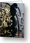 Town Hall Greeting Cards - Designed doorknob Greeting Card by Hideaki Sakurai