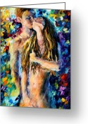 Afremov Greeting Cards - Desire Greeting Card by Leonid Afremov