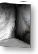 Dark Gray Dark Grey Greeting Cards - Desolate Greeting Card by Paula Ayers