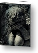 Cemetery Greeting Cards - Desolation Greeting Card by Leah Moore
