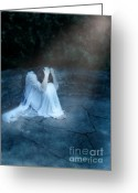 Nightgown Greeting Cards - Despair Greeting Card by Jill Battaglia