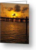 Florida Bridge Greeting Cards - Destin Harbor Sunset 1 Greeting Card by James Granberry