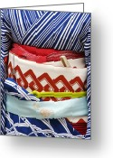 Sash Greeting Cards - Detail Of A Geishas Sash (obi), Pontocho. Greeting Card by Frank Carter